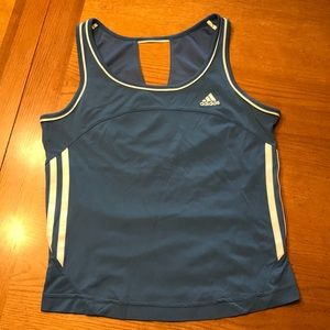 Adidas blue and white tennis tank M